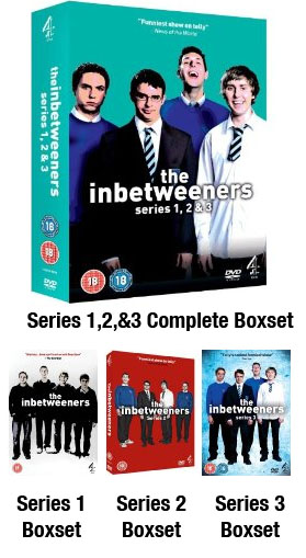 Inbetweeners Series 1 + 2 DVD boxset